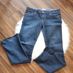 Paige Dark Wash Canyon Boot Jeans | Size 31